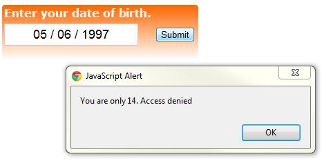 Javascript_Age_validation