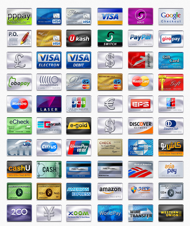 credit card icons 2