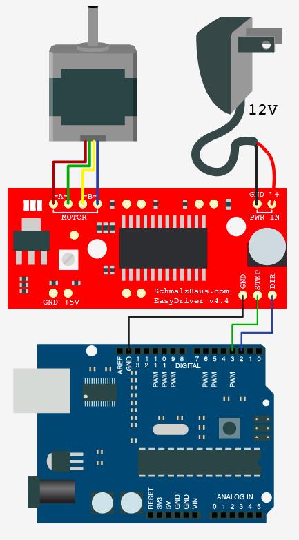 easydriver arduino mini plotter